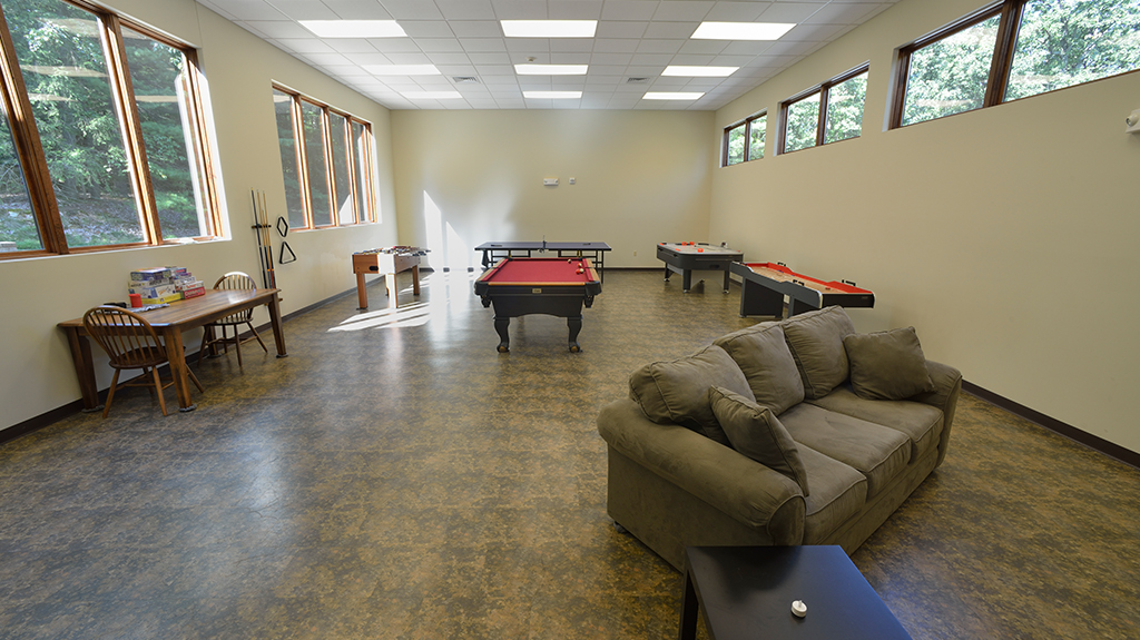 Mount Asbury Lodge recreation room
