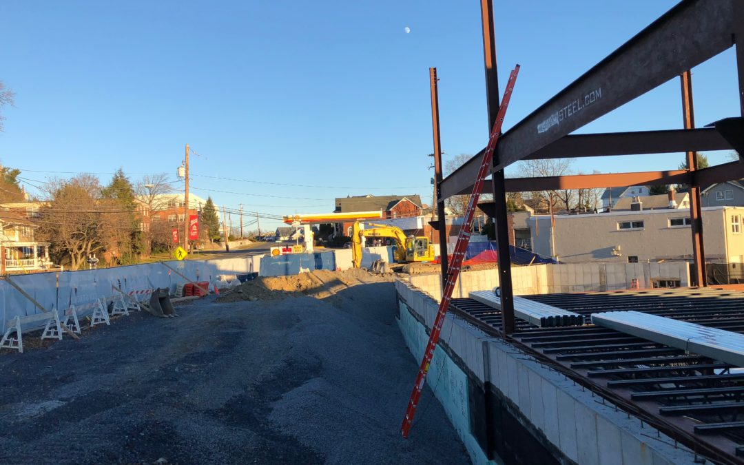 Steel work begins at Neighbors and Smith