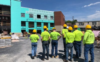 Carpentry Students Tour Jobsite