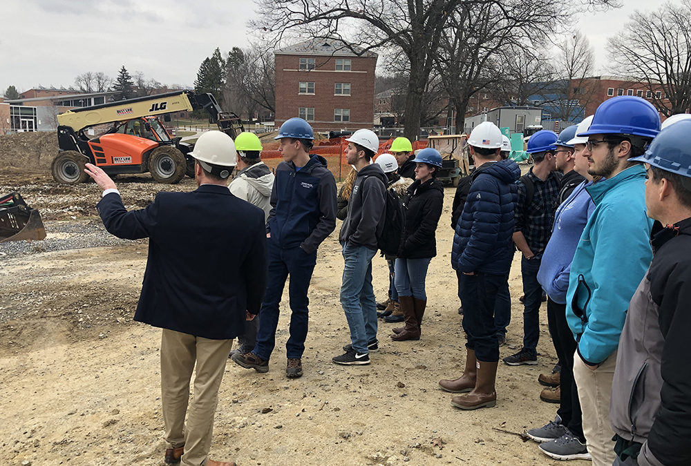 Students tour active construction site