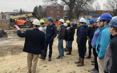 Engineering Students Tour Construction Job Site